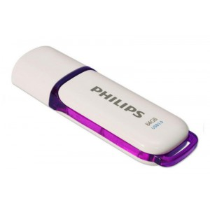 Pendrive Philips Snow 64Gb USB Flash Drive fehérlila