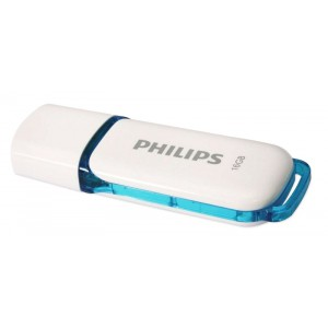 Pendrive Philips Snow 16Gb USB Flash Drive fehérkék